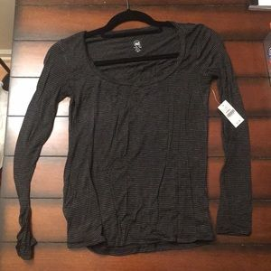 Wet Seal Grey Striped Top